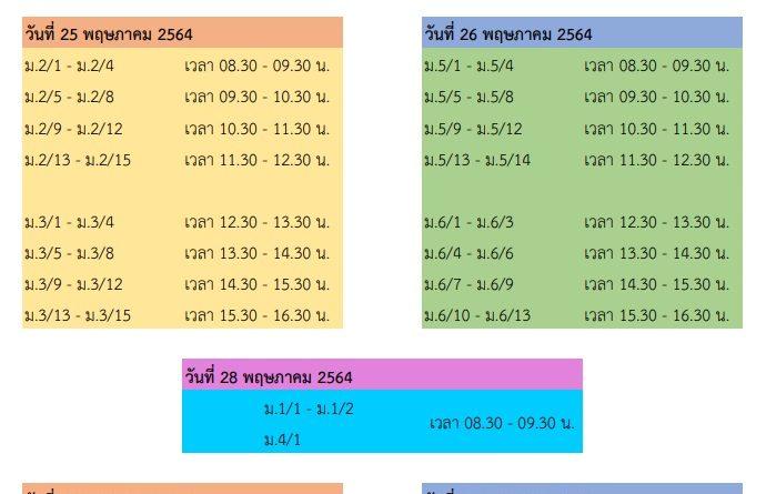 กำหนดการรับหนังสือเรียน ปีการศึกษา 2564 (ล่าสุด)